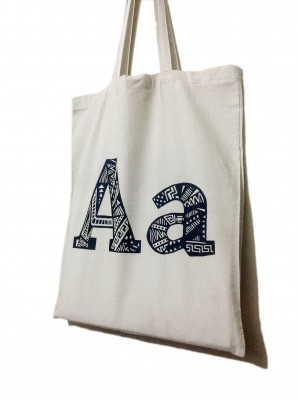 Tribal Aa on a tote!