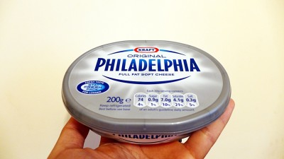 Cream cheese. The essential, if only slightly pricey, component.