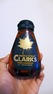Maple syrup. And...
